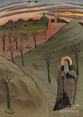 Saint Anthony The Abbot In The Wilderness Art Print