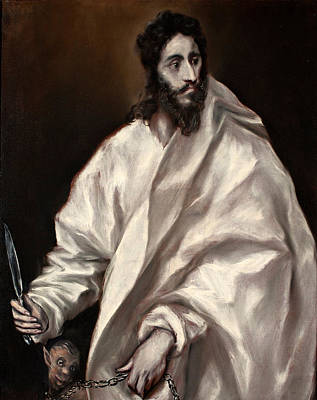 Painting - Saint Bartholomew by El Greco