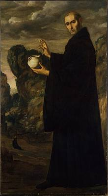 Saint Benedict Original by Francisco de Zurbarn