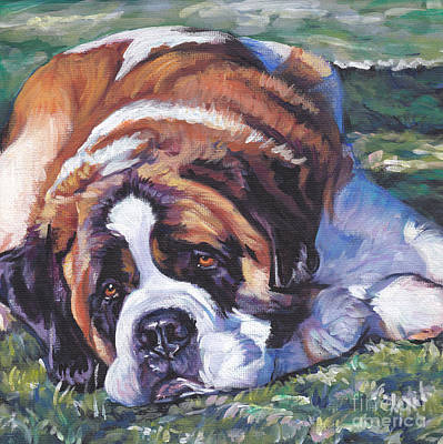 Painting - Saint Bernard by Lee Ann Shepard