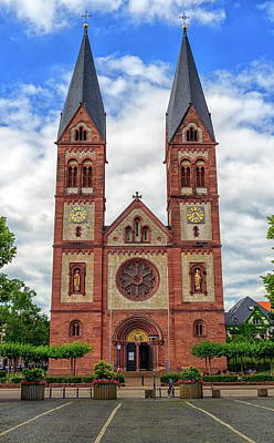 Photograph - Saint Bonifacius Church, Heidelberg, Germany by Elenarts - Elena Duvernay photo