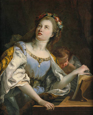 Painting - Saint Cecilia by Giovanni Battista Tiepolo