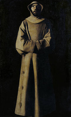 Painting - Saint Francis Of Assisi According To Pope Nicholas V's Vision by Francisco de Zurbaran