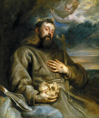 Saint Painting - Saint Francis Of Assisi In Ecstasy by Anthony van Dyck