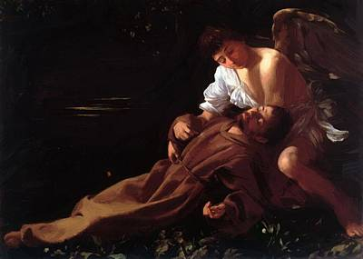 Saint Francis Of Assisi In Ecstasy Painting - Saint Francis Of Assisi In Ecstasy by Caravaggio