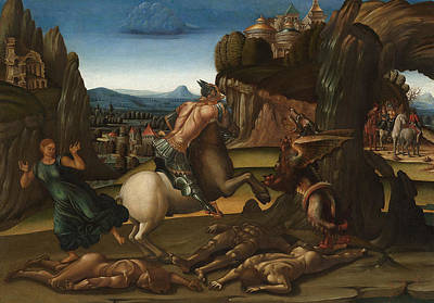 Dragon Painting - Saint George And The Dragon by Luca Signorelli