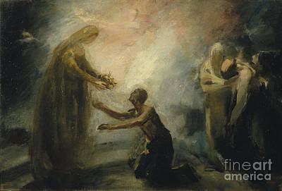 Saint Isabel Offering The Queen's Crown To A Beggar Art Print
