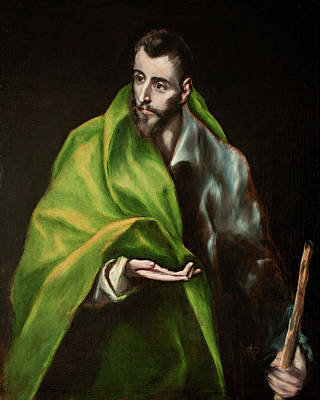 Spanish Painting - Saint James The Greater by El Greco