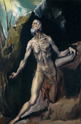 Christian Painting - Saint Jerome by El Greco