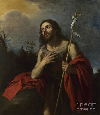 Baptist Painting - Saint John The Baptist In The Wilderness by Celestial Images