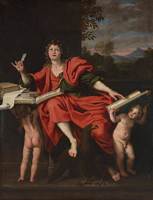 Digital Art - Saint John The Evangelist by Domenichino