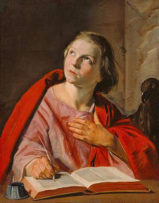 Catholic Painting - Saint John The Evangelist by Frans Hals