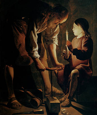Painting - Saint Joseph The Carpenter  by Georges De La Tour