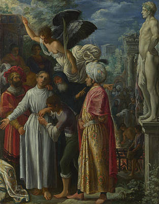 Saint Lawrence Prepared For Martyrdom Art Print by Adam Elsheimer