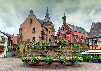 Photograph - Saint-leon Fountain In Eguisheim, Alsace, France by Elenarts - Elena Duvernay photo