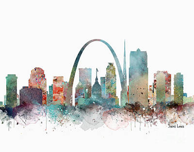 Painting - Saint Louis Missouri by Bri B