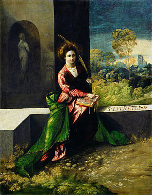 Painting -  Saint Lucretia by Dosso Dossi