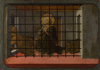 Digital Art - Saint Mamas In Prison Thrown To The Lions by Fra Filippo Lippi and workshop