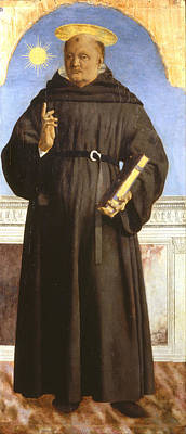 Saint Painting - Saint Nicholas Of Tolentino by Piero della Francesca