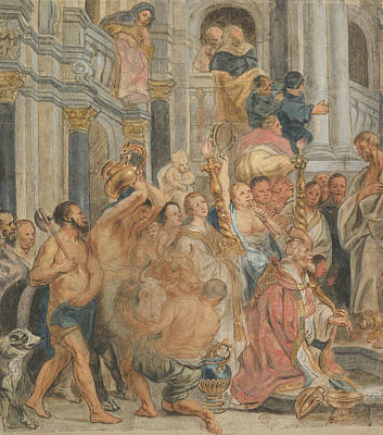 Drawing - Saint Paul At Lystra by Jacob Jordaens