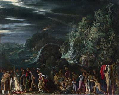 Adam Painting - Saint Paul On Malta by Adam Elsheimer