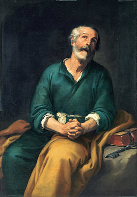 Painting - Saint Peter In Tears by Celestial Images
