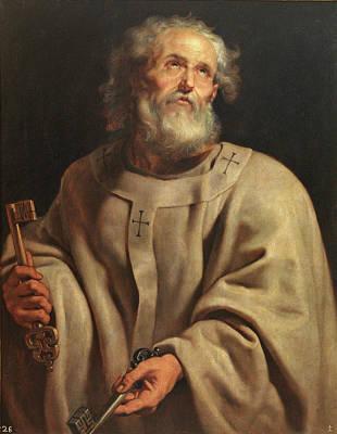 Simeon Painting - Saint Peter by Peter Paul Rubens