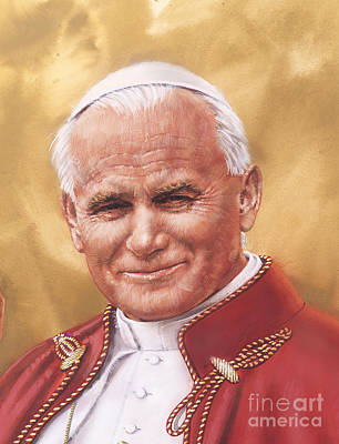 Painting - Saint Pope John Paul II by Dick Bobnick