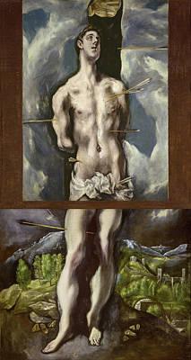 Spain Painting - Saint Sebastian by El Greco