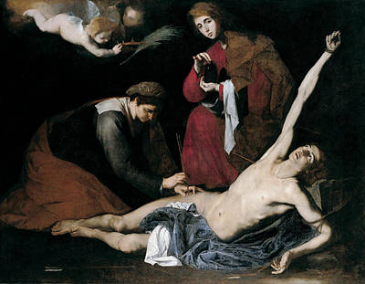 Painting - Saint Sebastian Tended By The Holy Women by Jusepe de Ribera