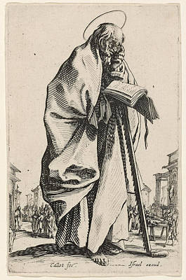Drawing - Saint Simon by Jacques Callot