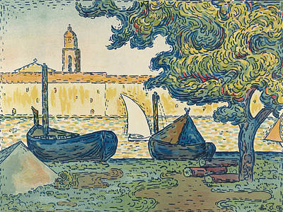 Relief - Saint-tropez by Paul Signac