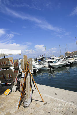 Saint-tropez, Yacht Club And Marina  Art Print