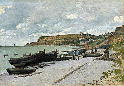 Painting -  Sainte-adresse by Claude Monet