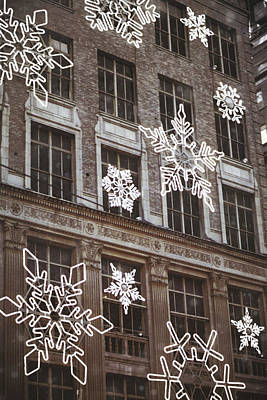 Photograph - Saks Fifth Ave Snow by JAMART Photography