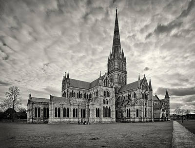 Photograph - Salisbury Cathedral England by Shirley Mitchell