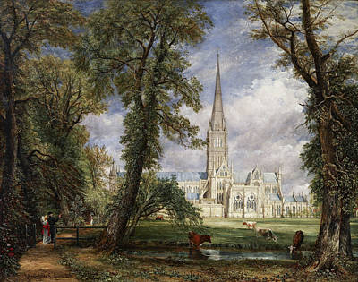 Painting - Salisbury Cathedral From The Bishop's Garden by John Constable