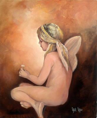 Fairys Painting - Sally's Angel by Sally Seago
