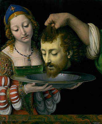 Painting - Salome With The Head Of Saint John The Baptist by Andrea Solario