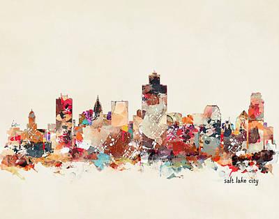 Painting - Salt Lake City Utah  by Bri B