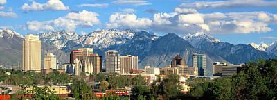 Photograph - Salt Lake City Utah Skyline by Douglas Pulsipher