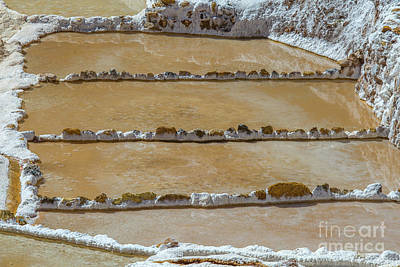 Photograph - Salt Mines In Peru by Patricia Hofmeester
