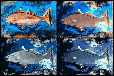 Wall Art - Painting - Salty Redfish  by Barry Knauff