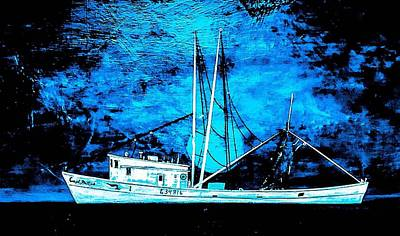 Wall Art - Painting - Salty Shrimp Boat  by Barry Knauff