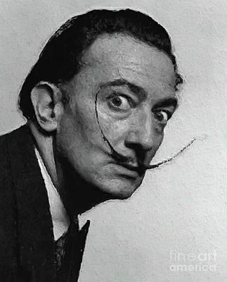 Surrealism Digital Art - Salvador Dali, Artist by Esoterica Art Agency