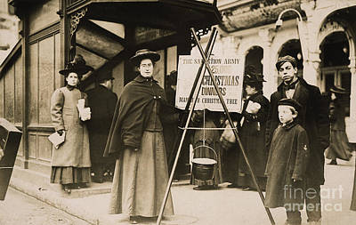 Photograph - Salvation Army, 1908 by Granger