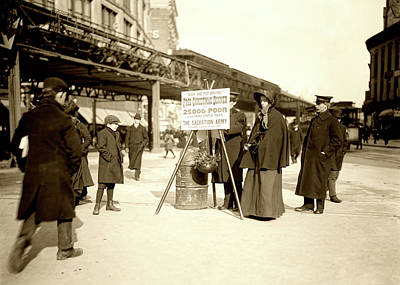 Salvation Army Photograph - Salvation Army Collection - N Y C C1902 by L O C
