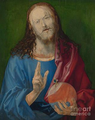 1505 Painting - Salvator Mundi by Albrecht Durer