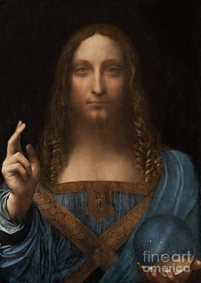 Painting - Salvator Mundi by Leonardo da Vinci