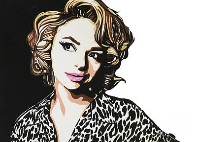 Painting - Samantha Fish Part3 by Nancy Mergybrower